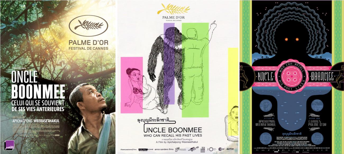 Les affiches réalisées pour la France, la vente internationale et les Etats-Unis d'Oncle Boonmee.