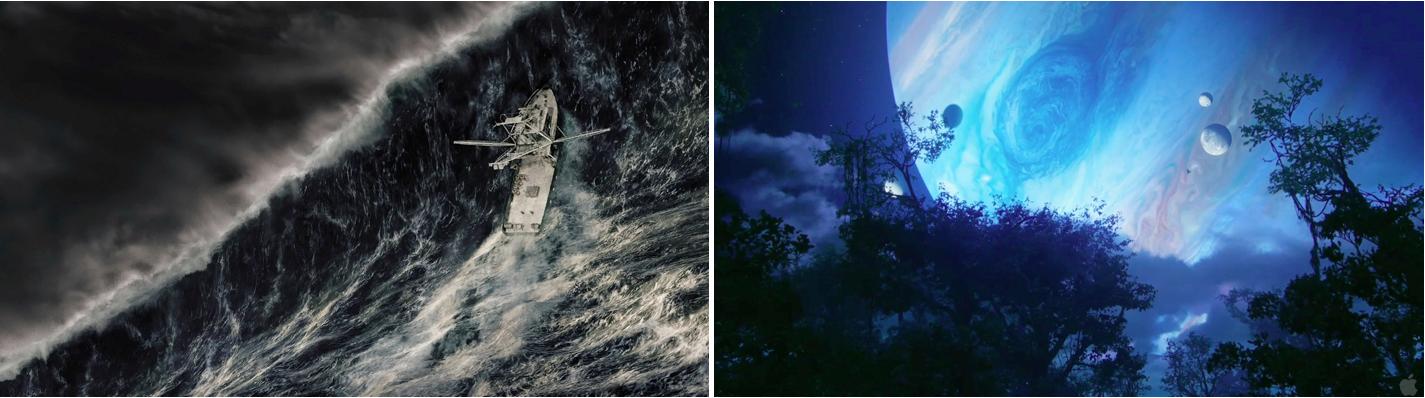 En pleine tempête (Wolfgang Petersen, 2010) / Avatar (James Cameron, 2009).