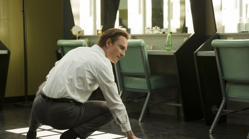 """Michael Fassbender plays Steve Jobs in the film, directed by Danny Boyle. """"Steve's obsession is where we're going, not where we've been,"""" Boyle says, """"and he is maniacally focused on that, and will eviscerate anything that reminds him of the past."""""""