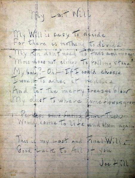 TESTAMENT DE JOE HILL _ MY LAST WILL