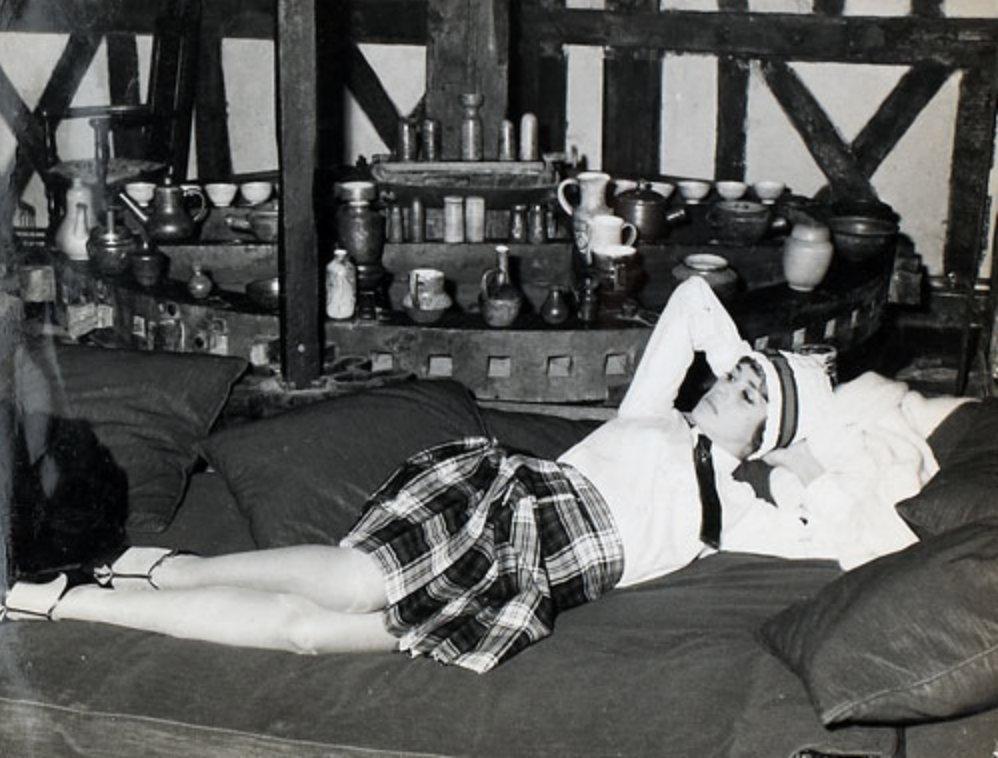 Jeanne Moreau au Moulin, lors du tournage de Jules et Jim.