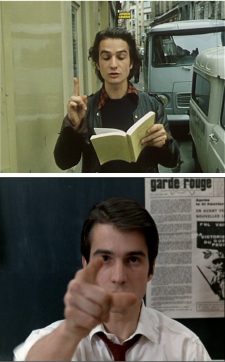 Out 1 (Jacques Rivette, 1971) / La Chinoise (Jean-Luc Godard, 1967).