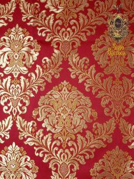 Tissu recouvrant les murs de la chambre royal.