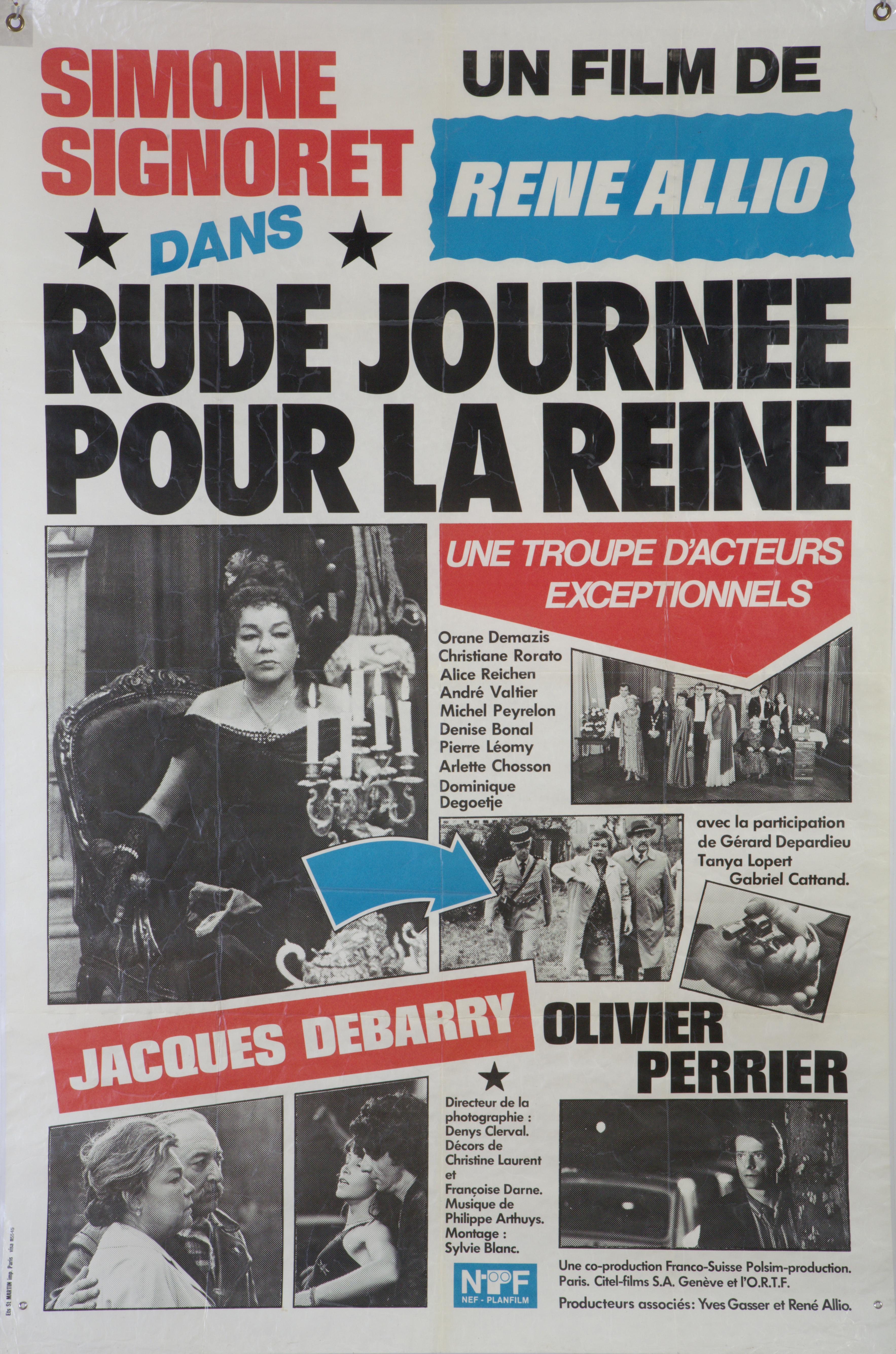 """Affiche """"Rude journée pour le Reine"""", film René de Allio, format 119 cm x 158 cm, fonds Annette Guillaumin"""